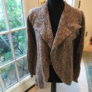 Cabi cardigan sweater taupe gray open front size S
